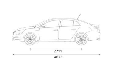 MEGANE Sedan profile dimensions