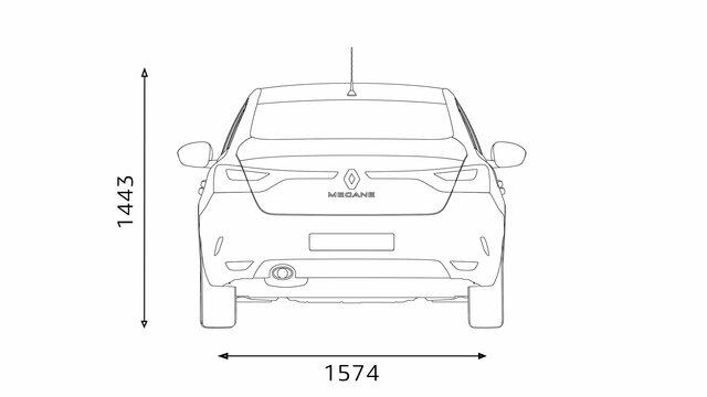 MEGANE Sedan rear dimensions
