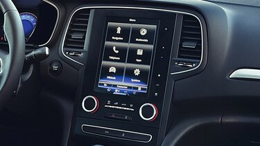 MEGANE Grand Coupe R-LINK 2 touchscreen tablet