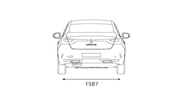 MEGANE Sedan dimensions arrière