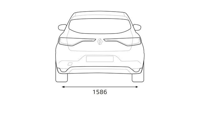 MEGANE rear dimensions