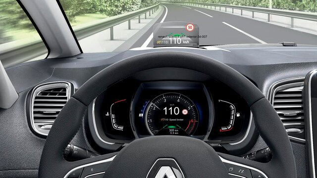 Renault SCÉNIC head-up display