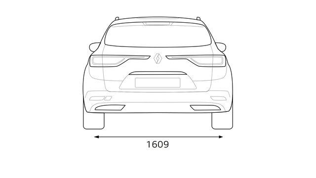 Renault TALISMAN Grandtour wymiary w widoku z tyłu