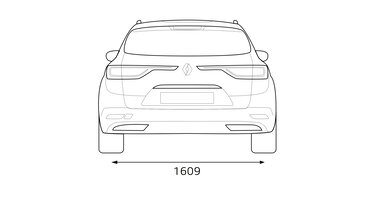 Zadní rozměry vozu Renault TALISMAN Grandtour