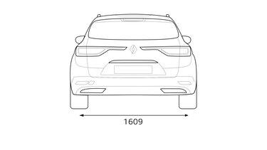 Renault TALISMAN Estate dimensioni posteriori