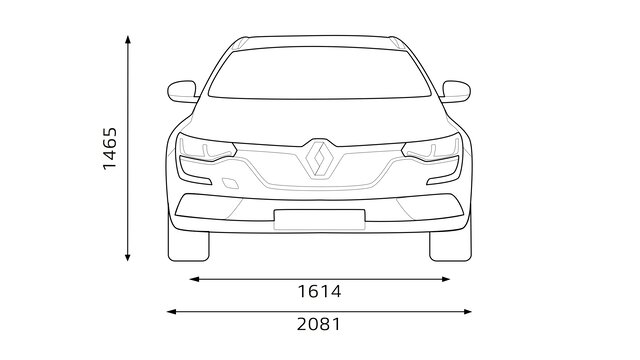 Renault TALISMAN Grandtour Dimensioni frontali