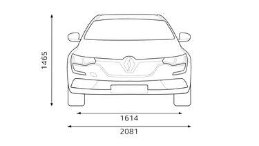 Renault TALISMAN Grandtour wymiary w widoku z przodu