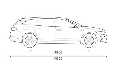 Renault TALISMAN Estate dimensioni profilo