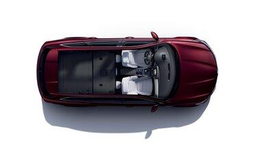 Modularer Kofferraum und klappbare Rückbank im TALISMAN Grandtour