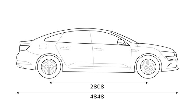 Bočne dimenzije automobila TALISMAN KANGOO