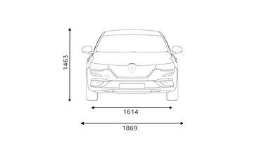 Renault TALISMAN dimensions face avant