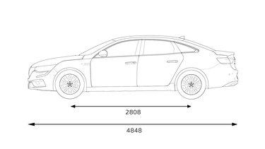 Renault TALISMAN dimensions profil