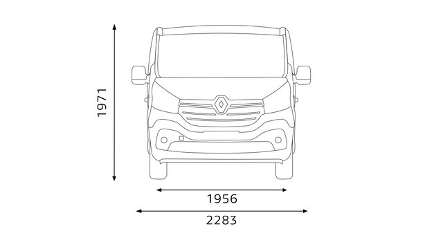 TRAFIC Combi front dimensions
