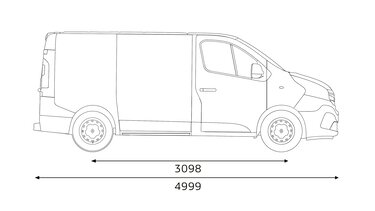 TRAFIC Combi dimensions profil