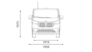 Renault Trafic Combi – elülső méretek