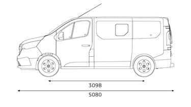 Renault Trafic Combi – oldalsó méretek