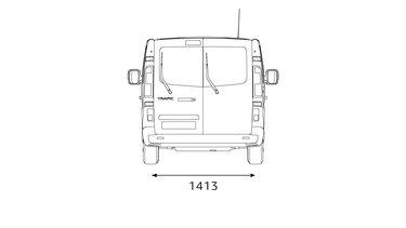 Renault Trafic Combi – hátulsó méretek