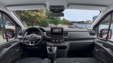 Predná časť interiéru Nového Renault TRAFIC Passenger