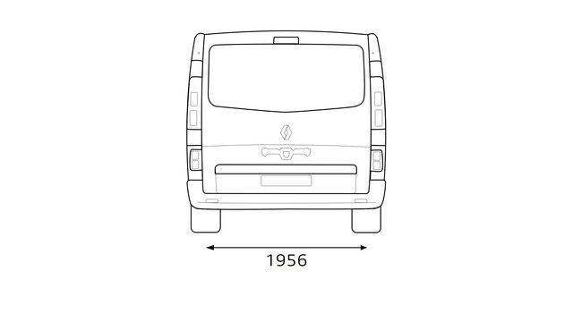 Dimensioni posteriori TRAFIC Passenger