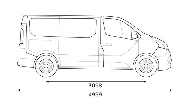 Dimensioni laterali TRAFIC Passenger