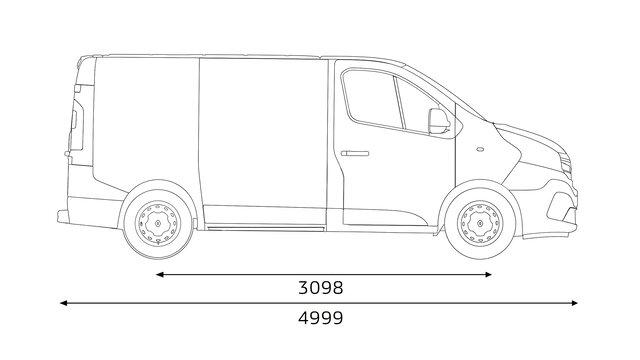 Boční rozměry vozu TRAFIC SpaceClass