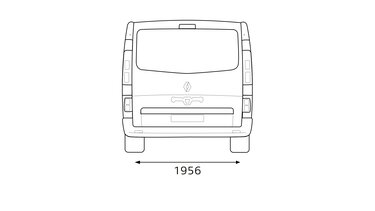 TRAFIC SpaceClass rear dimensions