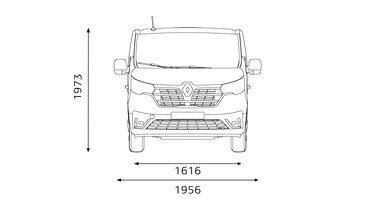 Renault Trafic SpaceClass - dimensions face avant