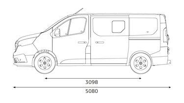 Renault Trafic SpaceClass - Abmessungen seitlich