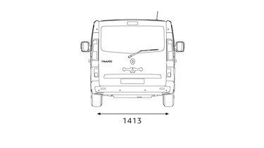 Renault Trafic SpaceClass - Abmessungen hinten