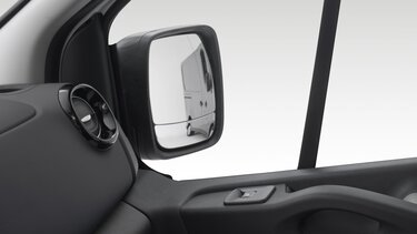Double aspheric door mirrors and wide view mirror