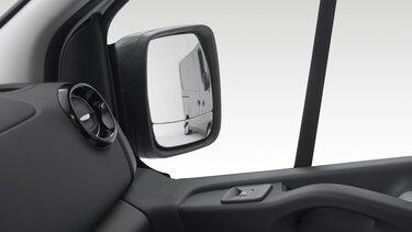 Retrovisori esterni doppi asferici e specchio Wide View