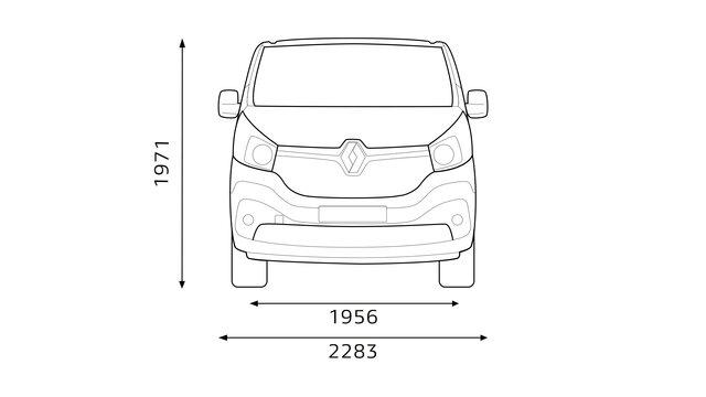 Renault TRAFIC Frontabmessungen