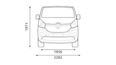 Renault TRAFIC – Dimensioni anteriori