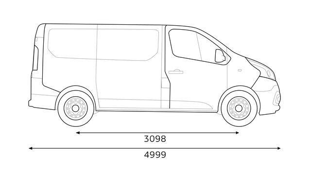 Renault TRAFIC Seitenabmessungen