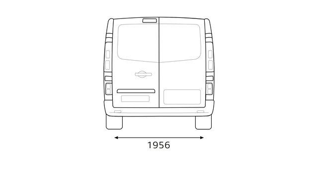 Renault TRAFIC Heckabmessungen