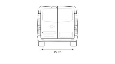 Renault TRAFIC – Dimensioni posteriori