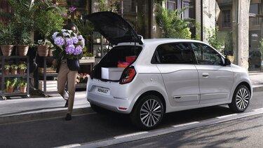 TWINGO Electric - Stadsauto, exterieur, klep open