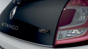 TWINGO Electric exterior - Decorações azuis na grelha