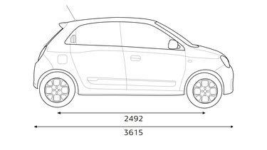 TWINGO Electric dimensions profil