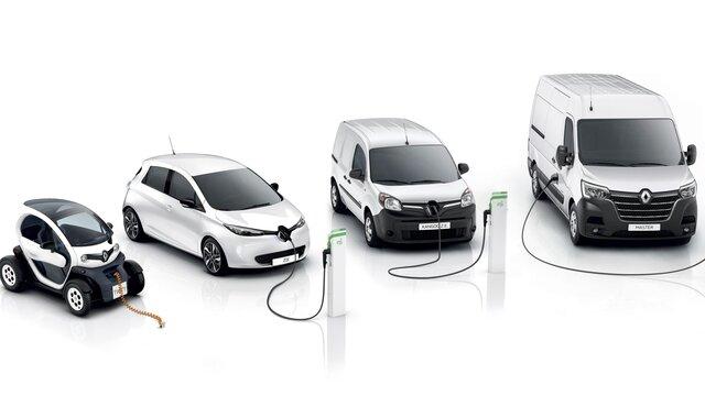 Die Renault Palette an Elektrofahrzeugen