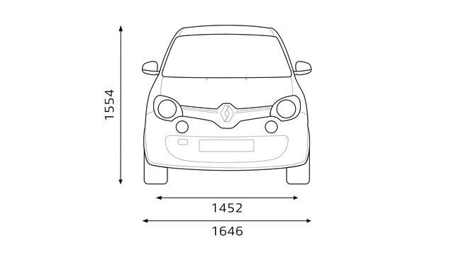 Twingo GT Abmessungen Frontansicht