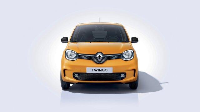 Renault TWINGO - Colore giallo - Muso 3D