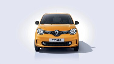 Renault TWINGO gialla muso 3D