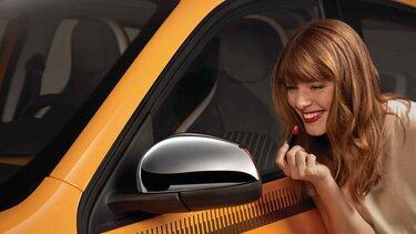 Renault TWINGO - Schalen achteruitkijkspiegels in chroom