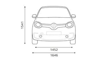 Renault TWINGO dimensioni anteriori