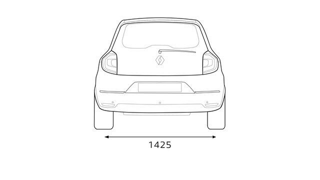 Renault TWINGO afmetingen achterkant