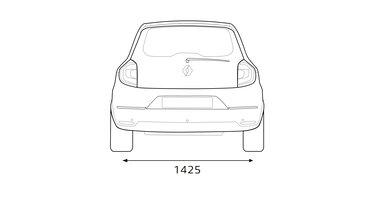 Renault TWINGO dimensions arrières