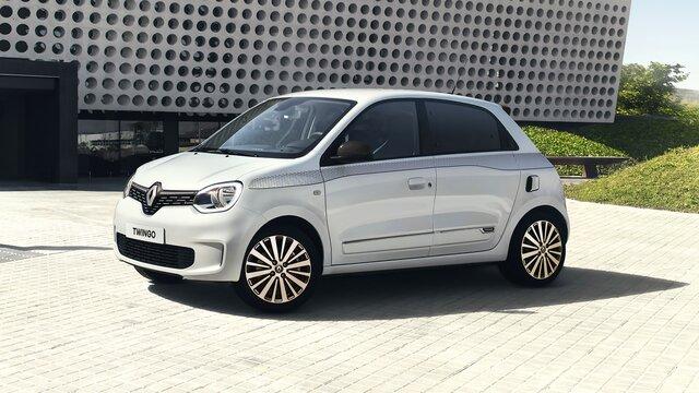 Witte Renault TWINGO zijkant