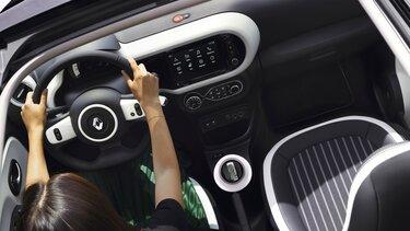 Renault TWINGO, prikaz unutrašnjosti odozgo