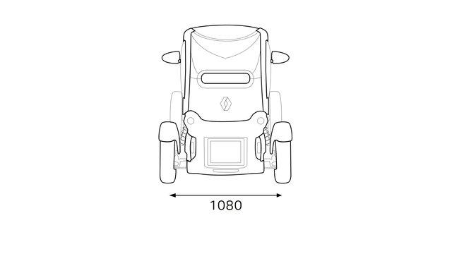 Renault TWIZY dimensions arrière